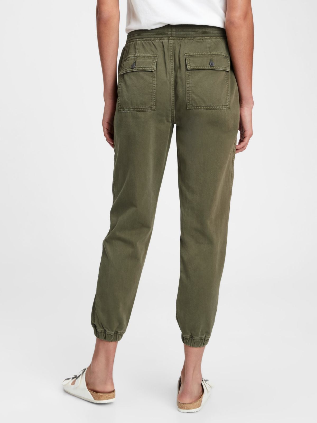 Ribbed Pull-On Joggers